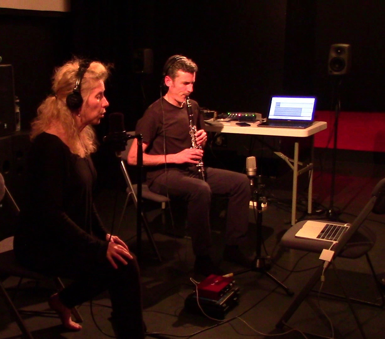 Nichola and Alex recording CCA
