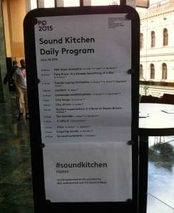 Sound Kitchen at Prague Quadrennial
