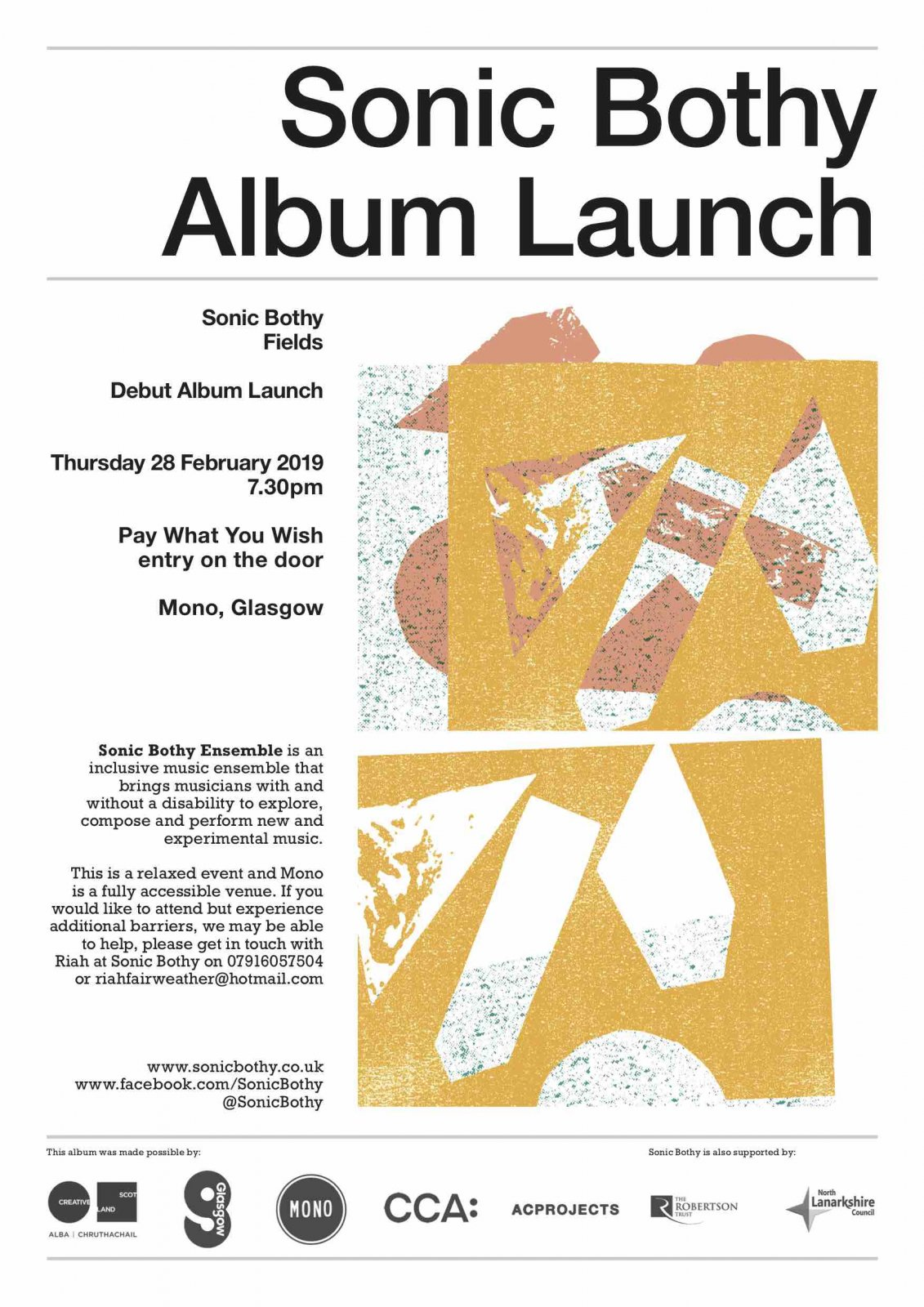 Sonic Bothy Album Launch Poster