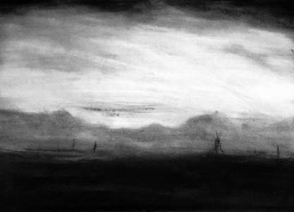 nichola scrutton charcoal landscape
