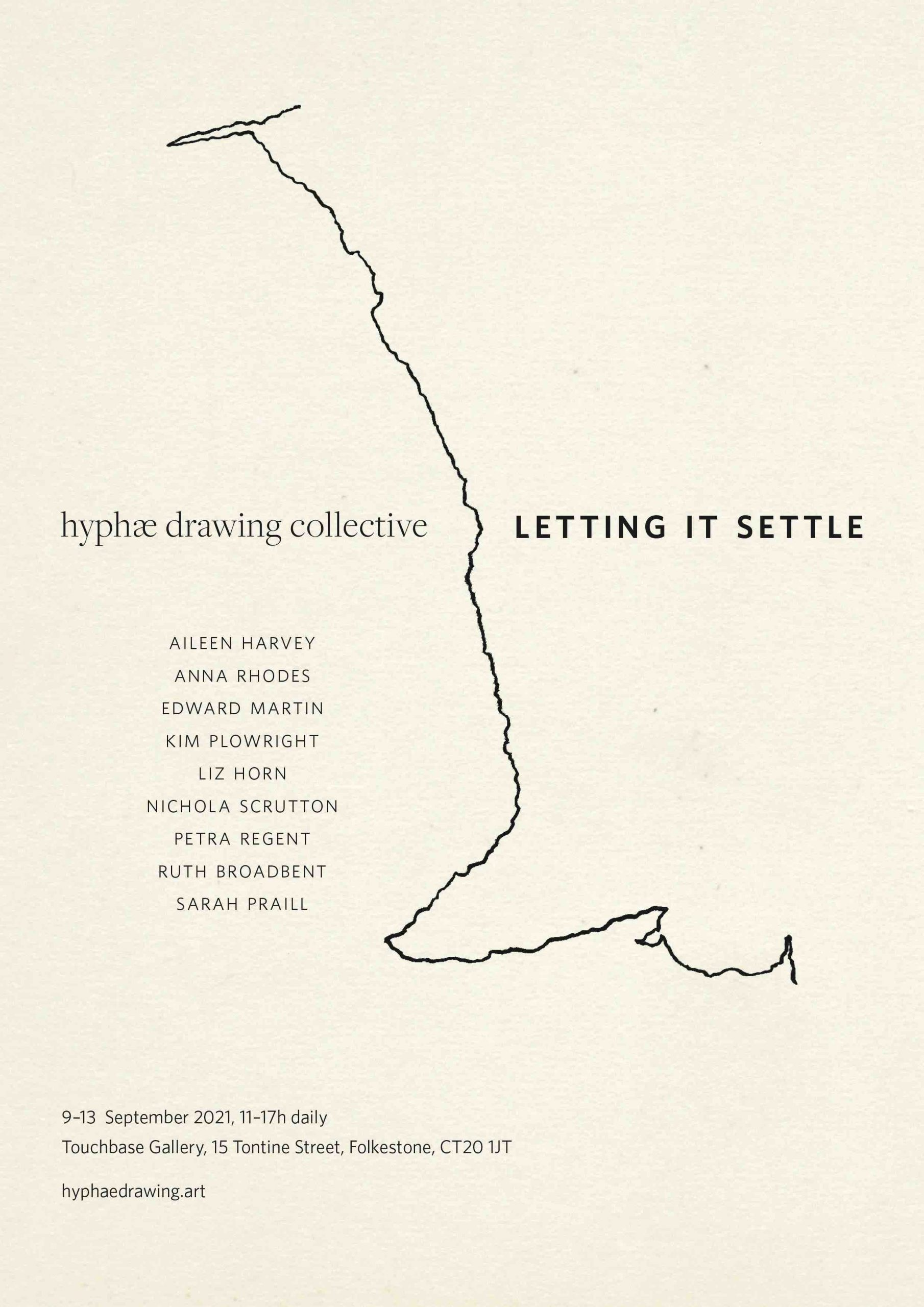 hyphæ drawing collective poster for group show in Folkestone